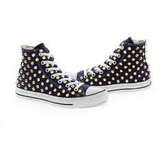 Studded Converse by CUSTOMDUO on ETSY ($130) via Polyvore