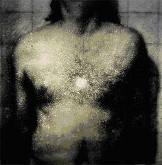 "Oscar Muñoz, detail of Simulacros, 1999, 35.75""x 35.75"""