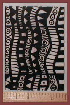 Umm profonda Texture inciso timbro aggiungere disegni in polimero, PMC argille o sull'arte di carta, tessuto, riviste, raccoglitori e ATC Trading Cards