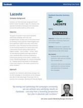 Lacoste Facebook Ad Case Study  See even more at the picture