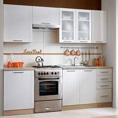 fotografie: Kuchyňská linka, základní sestava, dub sonoma / bílá, MONDA