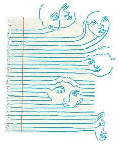 "jenvaughnart: ""Really cool illustration by Kim Rosen for an article on advancing Autism education. The piece was chosen for American Illustration "" Line Art, Paper Journal, Art Et Illustration, American Illustration, Art Graphique, Line Drawing, Art Inspo, Illustrators, Art Drawings"