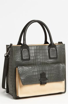The leather is not great, but some details.  Kenneth Cole New York 'Belt One Back' Satchel available at #Nordstrom