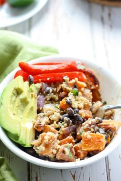 A filling plant-based meal using simple whole foods and some adobo seasoning makes for one delicious Southwest Quinoa Power Bowl. Top with a healthy, homemade honey lime dressing and this bowl will be on repeat! Packed with protein and fiber, plus gluten-free, and dairy-free friendly