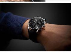 AESOP Black Sport Watch Men Quartz Wristwatch Leather Band Male Clock Wrist Shockproof Waterproof Relogio Masculino Hodinky - Mens Sport Watches, Watches For Men, Aesop, Quartz, Clock, Band, Leather, Accessories, Manish