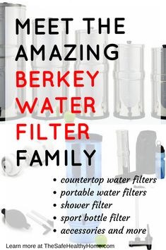 Berkey makes the awesome Big Berkey water filter plus a whole lot more. This article introduces you to the entire line of Berkey products - countertop, portable, shower, and sport bottle water filters AND accessories.