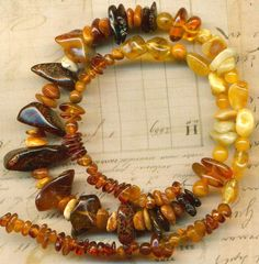 Baltic Amber Beads~Yellow Butter Cognac~Rondells Rounds Ovals~Genuine Natural