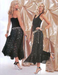 Lace Skirt free crochet pattern - beautiful skirt