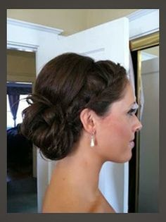 wedding hair hair flowers wedding hair hair medium length updo wedding hair hair styles for shoulder length hair hair long updo hair style for medium hair Updos For Medium Length Hair, Short Hair Updo, My Hairstyle, Pretty Hairstyles, Wedding Hairstyles, Short Hair Styles, Wedding Updo, Medium Hair, Curly Bun