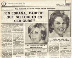 """""""En España, Parece Que Ser Culto Es Ser Cursi"""""""