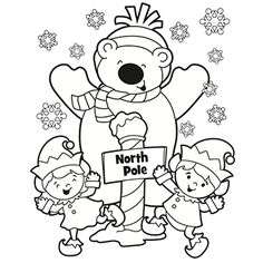 north pole coloring page i could not get this to pin as a
