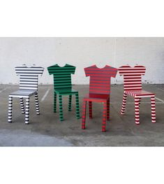 T-Chair Striped Chair Mogg