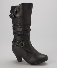 Another great find on #zulily! Black Scrunch Bag Boot by Lucky Top #zulilyfinds