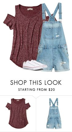"""Untitled #2793"" by laurenatria11 ❤ liked on Polyvore featuring Hollister Co. and Converse"