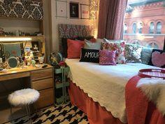 NYU Dorm Single. DIY faux fur stool