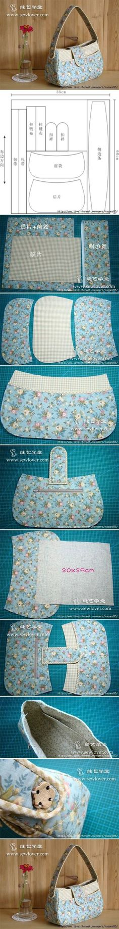 59 Ideas diy fashion bags tuto sac for 2020 Patchwork Bags, Quilted Bag, Patchwork Fabric, Purse Patterns, Sewing Patterns, Sewing Tutorials, Sewing Projects, Sewing Diy, Diy Projects