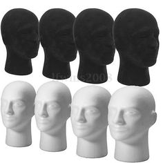 Male Female Foam Mannequin Manikin Head Stand Display Wig Hair Glasses Hat Shop