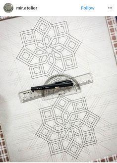 Islamic Art Pattern, Arabic Pattern, Geometry Pattern, Geometry Art, Pattern Art, Mandala Design, Mandala Art, Geometric Designs, Geometric Shapes