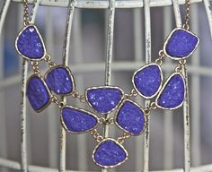 Hey, I found this really awesome Etsy listing at https://www.etsy.com/listing/129519735/statement-bib-necklace-druzy