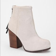JC Rumble boots Gently used, Jeffrey Campbell Rumble boots in a light taupe suede. Size 8. Minor signs of wear on heel please refer to all photos before purchasing! Jeffrey Campbell Shoes Ankle Boots & Booties