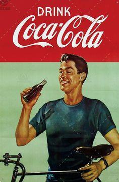 Propaganda Coca Cola, Coca Cola Poster, Coca Cola Ad, Always Coca Cola, World Of Coca Cola, Coca Cola Bottles, Coca Cola Vintage, Pub Vintage, Images Vintage