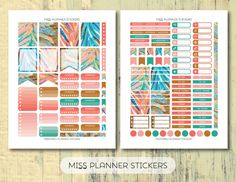 50% OFF SALE // Peacok Feathers weekly Kit by missplannerstickers
