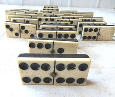 Antique ebony & bone!  Dominoes anyone? I collect antique dominoes!!