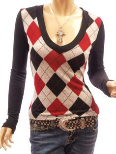 Patty Women Smart V Neck Checkers Long Sleeve Knit Top | Traveling Of Life#fashion #women #bags #shoes #clothing