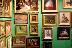 antique dog paintings - Google Search