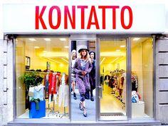 insegne negozi, insegne luminose negozi, insegne negozi Milano, insegne negozi via Torino - Milano, insegne negozi KONTATTO