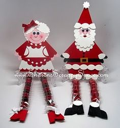 Candy Legs Mr and Mrs Santa Claus