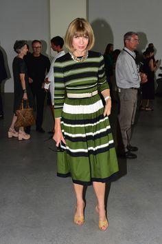 Anna Wintour Photos: Calvin Klein Collection - Front Row - Mercedes-Benz Fashion Week Spring 2015