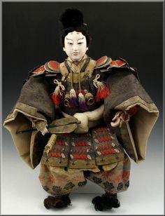 Antique Japanese Musha Ningyo Warrior / Boys Day Doll