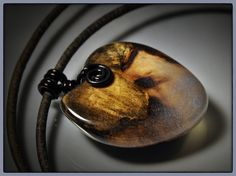 Wood and resin little heart