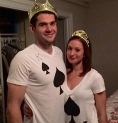 Halloween Easy Couple Costume - King and Queen of Spades
