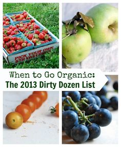 Always buy organic when it comes to this list...