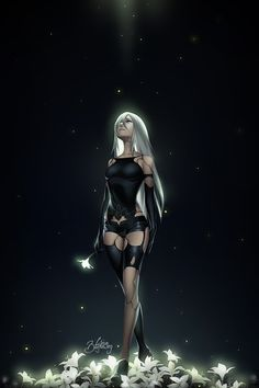 I don't really know anything about the story of Nier: Automata yet, although I'm hyped for the game. Nier: Automata - RE-IMAGINATED Nier Automata A2, Neir Automata, Anime Art Girl, Manga Girl, Manga Anime, Anime Girls, Fantasy Women, Fantasy Girl, Fantasy Characters