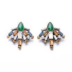 2014 New Style Stud Earrings for Women Shourouk Stud Earrings with Fashion Pink Rhinestone Shourouk Stud Earrings Wholesale $7.68