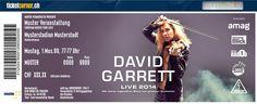 David Garrett -  Für seine Fans hat David Garrett ein komplett neues Programm und eine sensationelle, neue Bühnenshow im Gepäck. 23.10.14 Zürich, Hallenstadion. http://www.ticketcorner.ch/david-garrett-tickets.html?affiliate=PTT&doc=artistPages/tickets&fun=artist&action=tickets&kuid=423233