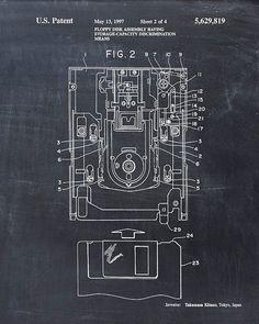 Floppy Disk Patent Print - Patent Art Print - Patent Poster - Blueprint - Computer Technology