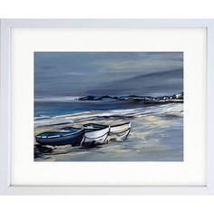 Durley Chine Fishing Boats - Original Framed