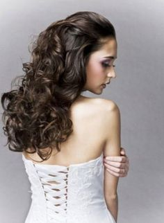 Wedding Hairdos Half Up | Curly wedding hairstyles half up pictures 2