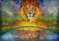 Glory Of The Lion Of Judah Painting