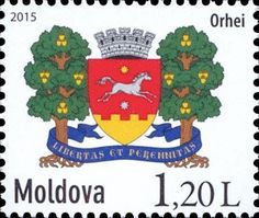 Moldova Postage Stamps (Definitive) 2015 № 901 | Arms of the City of Orhei | Issue: Local Coats of Arms - Definitive Stamps