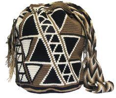 Mochilas Colombianas Wayuu /Brown Wayuu Mochila Bag - comprar online