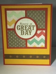 Handmade card. Crate paper. Scraps