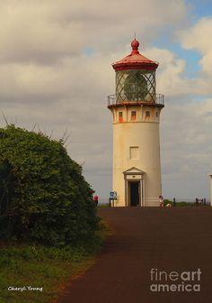 The Kilauea Lighthouse, Kauai, Hawaii.