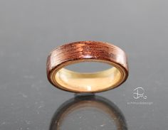 Holzringe - Ring Bentwood Holzring Mahagoni Limba bicolor - ein Designerstück…