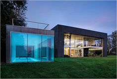 When clients approached KWK Promes architects, the most essential item they pointed out was acquiring the feeling of maximum security. The Safe House is a 6,100 sq.ft. fortress it´s a solid rectangular prism in which parts of the walls are movable. The entire house transforms with built in electronic engines, the house opens and closes with the touch of a button!