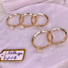 Shopee Gold Engagement Rings, White Gold, Personalized Items